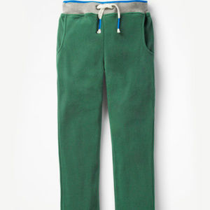NWT Mini Boden Dark Green Microfleece Joggers Sz 4